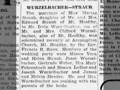 1Sept1946 Wurzelbacher Wedding #AncestryContest
