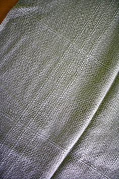 Vintage Sage Green Handwoven Wool Throw by WoollyMammothVintage