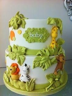 Enjoy The Fun of Baby Shower Safari Cake