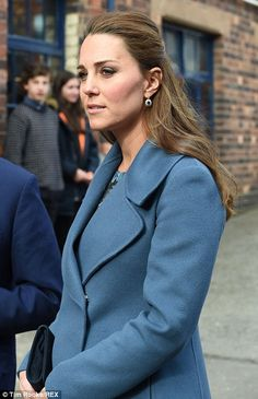 Catherine, Duchess of Cambridge visits the 'Emma Bridgewater' pottery factory to view the production of a mug that the company has launched in support of East Anglia's Children's Hospices on February 18, 2015 in Stoke-on-Trent, Staffordshire, England.