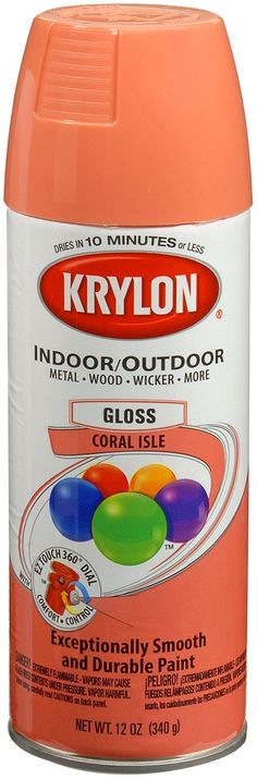 Krylon Coral Isle Spray Paint- this could be used is some of our projects