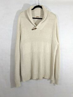 NWT $69 Buffalo David Bitton Textured Sweater Mens  L  XXL Gray NEW LS Grey