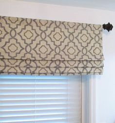 Colors include grey, beige and cream. Valance is lined with white or ivory sateen drapery lining. This listing is for One FAUX Roman Shade up to 18 in length including 2 rod pocket in your choice of width up to If you need Window Coverings, Window Treatments, Gio Ponti, Faux Roman Shades, Blackout Roman Shades, Decorative Curtain Rods, Roman Blinds, Roman Curtains, Magnolia Homes