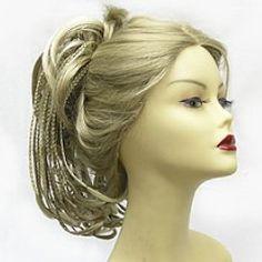 Reversible Hair Piece Blonde Ponytail with Braids