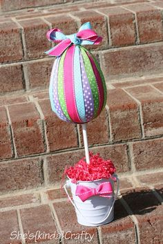 Ribbon {Egg} Topiary