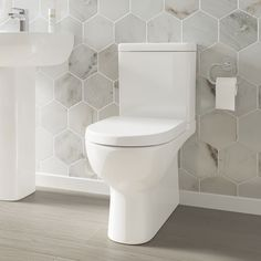 Practical and revolutionary rimless design Water-saving dual flush cistern More hygienic and easy to clean compared to standard toilets Soft close seat included Built from vitreous x x Compact Bathroom, Modern Bathroom, Bathroom Ideas, Hall Bathroom, Beautiful Bathrooms, Warehouse Plan, Small Kitchen Sink, Traditional Toilets, Close Coupled Toilets