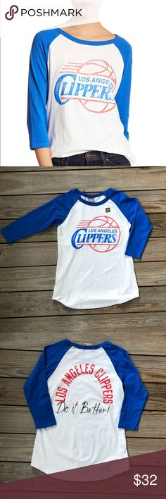 Junk Food LA Clippers Baseball Tee. BRAND NEW! Junk Food LA Clippers Baseball Tee. BRAND NEW!  Thanks for shopping my closet Junk Food Tops