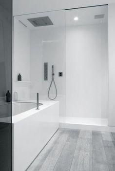 99 Magnificence Scandinavian Bathroom Design Ideas - Page 71 of 100 Bathroom Renos, Grey Bathrooms, Bathroom Flooring, Beautiful Bathrooms, Small Bathroom, White Bathroom, Lowes Bathroom, 1950s Bathroom, Bathroom Mirrors