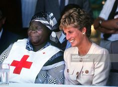 July 01, 1993: Princess Diana (1961 - 1997) during a visit to the Red Cross borehole project for refugees in Zimbabwe, July 1993. She is wearing a safari suit by Catherine Walker.