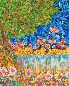 Fine Art Print of Garden  8x10 20x25cm by Natitota on Etsy, $15.00