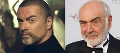 George Michael and Sean Connery.. who knew? Great eyebrows... jussayin..