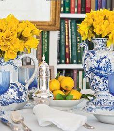Blue & yellow  Carolyne Roehm