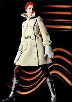 Fashion by Courreges for L'officiel magazine, 1969. from Tumblr