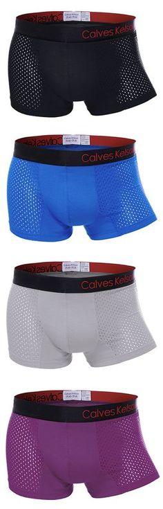b7eeba2e9d Sexy Modal Mesh Breathable Ice Silk U Shaped Boxers for Men