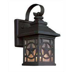 Portfolio Texas Star Wall-mount 1-Light Outdoor Black Lantern-1000-023-953 at The Home Depot $39.88