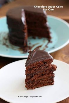 This Vegan Chocolate Layer Cake with Ganache is made on stove top and not baked in an oven! It comes together within minutes, is moist and decadent. soy-free