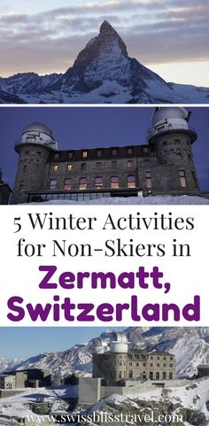 You don't have to be a skier to enjoy Zermatt, Switzerland! I'll show you 5 winter activities in Zermatt that don't include skiing. You can have fun exploring the beautiful country of Switzerland instead of tumbling down the slopes. Make sure you save this Zermatt, Switzerland guide to your travel board so you can find it when you're planning your trip.
