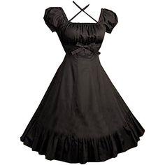 Partiss Women Cap Sleeves Classic Black Lolita Dress With... http://www.amazon.com/dp/B012D15MQU/ref=cm_sw_r_pi_dp_t2.kxb1J1Z2MD