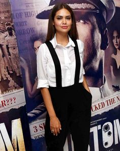 Esha Gupta at a promotional event of #Rustom in Delhi. #Bollywood #Fashion #Style #Beauty #Hot #Sexy