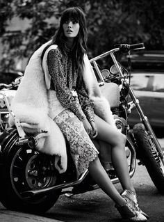 visual optimism; fashion editorials, shows, campaigns & more!: rock 'affaire': lily aldridge by david roemer for s moda 8th november 2014