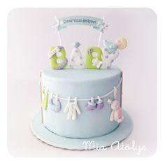 Baby boy baby shower cake