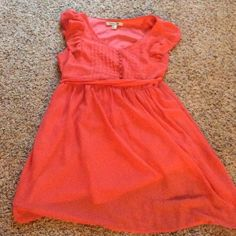 Forever 21 coral dress Cute dress- love the color!!! Forever 21 Dresses