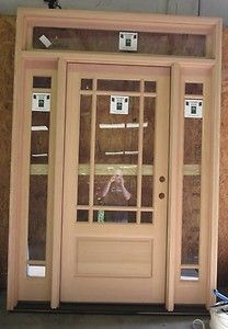 Solid Fir Front Door with Side Lights... like this too...