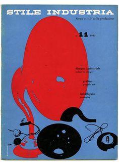 Stile Industria (Domus) (Number 11 April 1957). cover Michele Provinciali