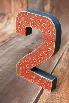 Western Party Decor Birthday 2 Photo Prop Number by DaydreamingKat, $9.75