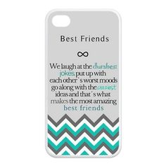"Best Friends Quote iPhone 4 Case - ""We laugh at the dumbest jokes, put up with the worst moods, go along with the craziest ideas, and thats what makes us the most amazing best friends"" Chevron iP Best Friend Cases, Bff Cases, Friends Phone Case, Funny Phone Cases, Iphone Phone Cases, Bestest Friend, Bff Quotes, Best Friend Quotes, Phone Quotes"