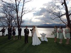 Jessica and Grace's ceremony on the Southwest Lawn, May 3, 2014.