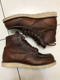 Distressed Red Wing moc toes 875 Oro Legacy