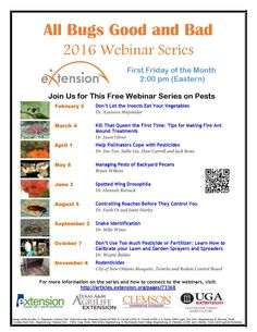 Please join us for this webinar series for information you can use about good and bad insects. We will discuss how you can help. Kill Fire Ants, First Friday, Fruit Flies, First Time, How To Remove, Snakes, Bugs, Insects