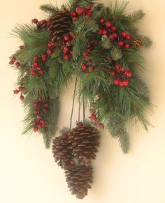 Winter Pine Swag Wreath van Ghirlande op Etsy
