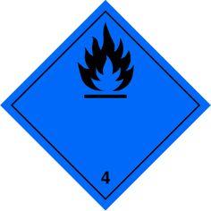 Señal Peligro de clase 4.3 Materias que al contacto con el agua, desprenden gases inflamables