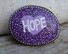 HOPE in the palm of your hand painted rock by BeachMemoriesByJools