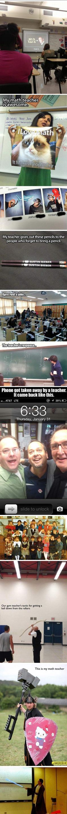 I feel like we need more teachers like this at the high school..