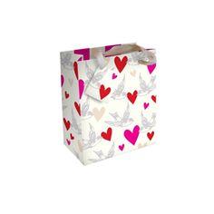 Caroline Gardner - Swallows and Hearts Small Gift Bag