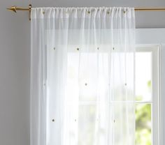 The Emily & Meritt Scattered Star Sheer Panel | Pottery Barn Kids