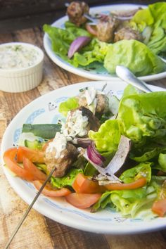 Grilled Greek Meatballs with Paleo Tzatziki Sauce — Foraged Dish