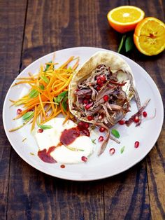 Mechoui lamb with carrot and orange salad Jamie Oliver Jamie Does. Jamie Oliver, Lamb Recipes, Cooking Recipes, Savoury Recipes, Fruit Recipes, Yummy Recipes, Healthy Recipes, Yogurt, Greek Yoghurt