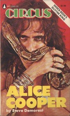 Alice Cooper on the cover of Circus magazine, 1970s.