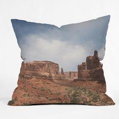 Catherine McDonald Southwest Desert Outdoor Throw Pillow | DENY Designs Home Accessories #moab #archestnationalpark #utah #southwestern #tribal