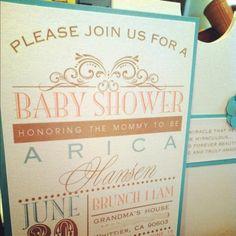 sojoji: Shabby chic baby shower invitations