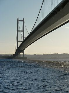 The Humber Bridge - near Kingston upon Hull, England, is a 2,428 yard single-span suspension bridge, which opened to traffic in 1981;  photo by Quite Adept, via Flickr