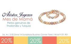 ¡Collares de perlas legitimas para consentir a mamá! Del 2 de mayo al 30 ¡Te esperamos! #Mayo #Promociones #Oro #Descuentos #Moda #Diseños #Plata #Regalos #Diamantes #Elegancia #Amor