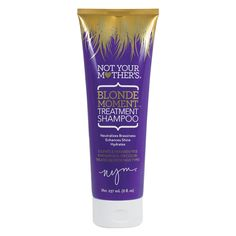Sulfate and paraben free<br><br>Not Your Mother's Blonde Moment Treatment Shampoo in 8 oz is for natural or color-treated blonde hair types. This blonde shampoo neutralizes brassiness, enhances shine and hydrates. Purple Shampoo For Blondes, Best Purple Shampoo, Purple Shampoo And Conditioner, Blonde Hair Types, Blonde Hair With Highlights, Chunky Highlights, Home Design, Brassy Hair, Hair And Beauty