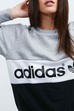 Shop adidas City Sweatshirt in Grey and Black at Urban Outfitters today. We carry all the latest styles, colours and brands for you to choose from right here. City Outfits, Sporty Outfits, Addidas Shirts, Minimalist Shoes, Glam Dresses, Adidas Outfit, Sport Fashion, Adidas Fashion, Printed Sweatshirts