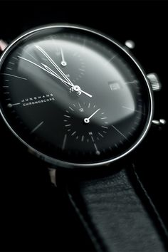 Gorgeous crystal men's watch face... Junghans