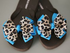 Flip Flops with Interchangeable Bows by BellaLouCo on Etsy b471803008aca